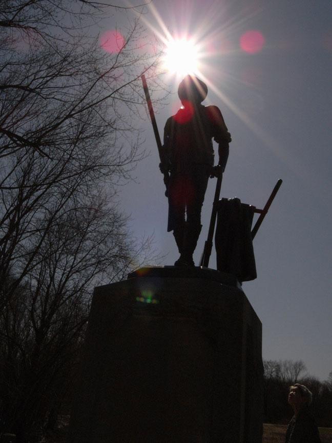 ボストン旅行:ミニッツマンの銅像